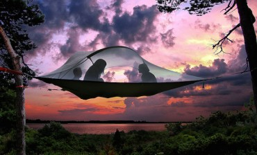 Tentsile is a hanging treehouse like tent