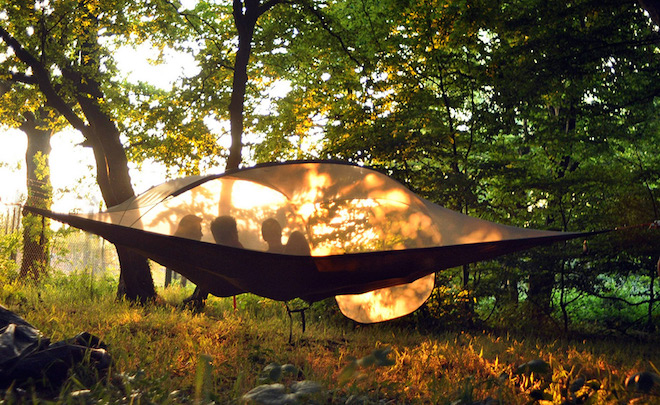 Portable suspended treehouse, Tentsile, portable treehouse, tent, treehouse tent, two man tent, camping, outdoors, nature