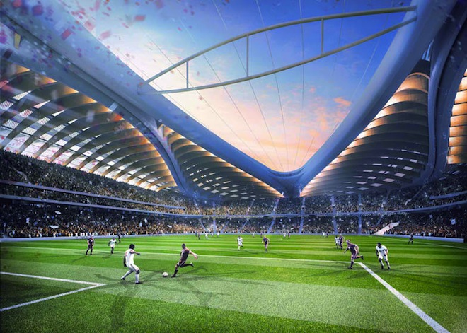 Qatar 2022, Al-Wakrah Region, Zaha Hadid, AECOM, carbon neutral world cup, carbon neutral building standards, renewable energy, Qatar, Doha, public transportation