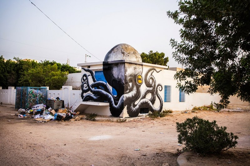 150 graffiti artists create a giant open air gallery in Tunisia