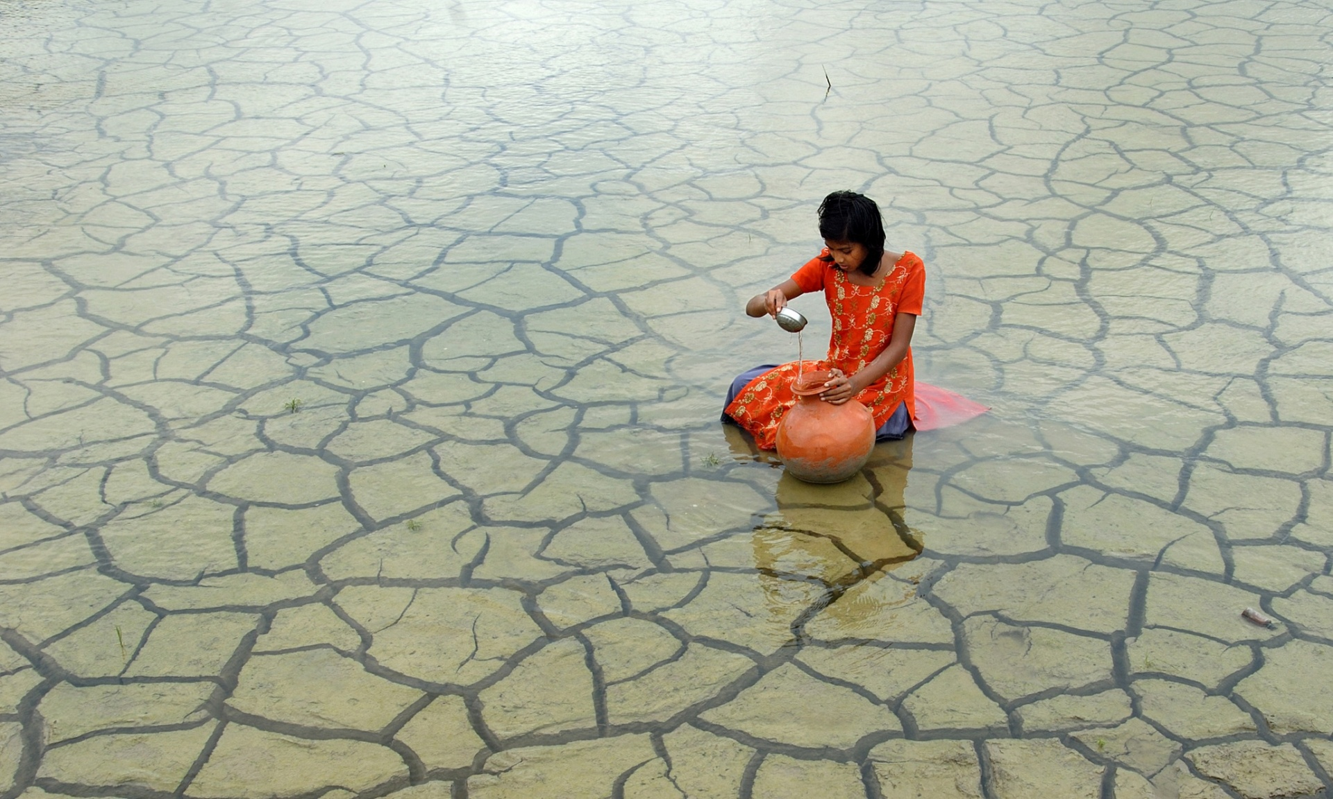 Rainwater collection, 2012, by Prasanta Biswas (India