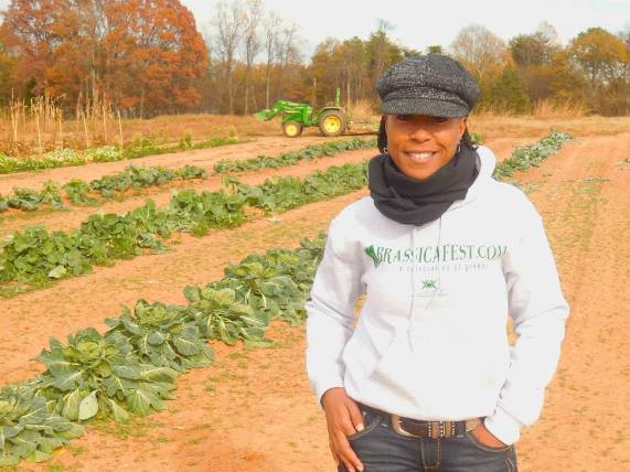 Robin emmons at SMG sow much good urban farm