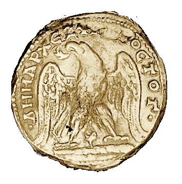 roman coin with murex snail