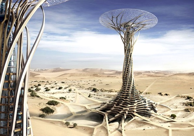 3d-printed tower, solar power, desert skyscraper, Sand Babel, eVolo Skyscraper 2014 competition, green design, futuristic design, sustainable design, desert architecture