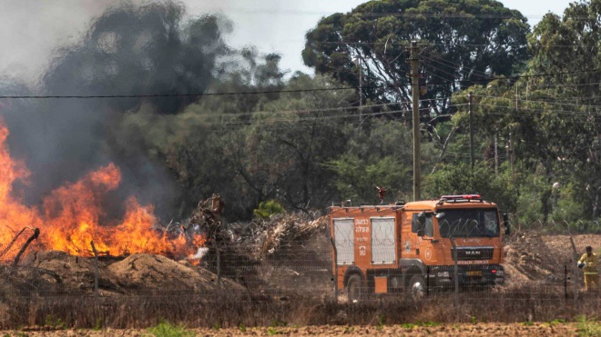 Gaza arson burns forests