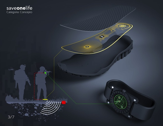 SaveOneLife, Lemur Studio, landmines, landmine detector, boots that detect mines, landmine boots, landmine detecting boots, Egypt landmines, Colombia landmines, design for health, social design