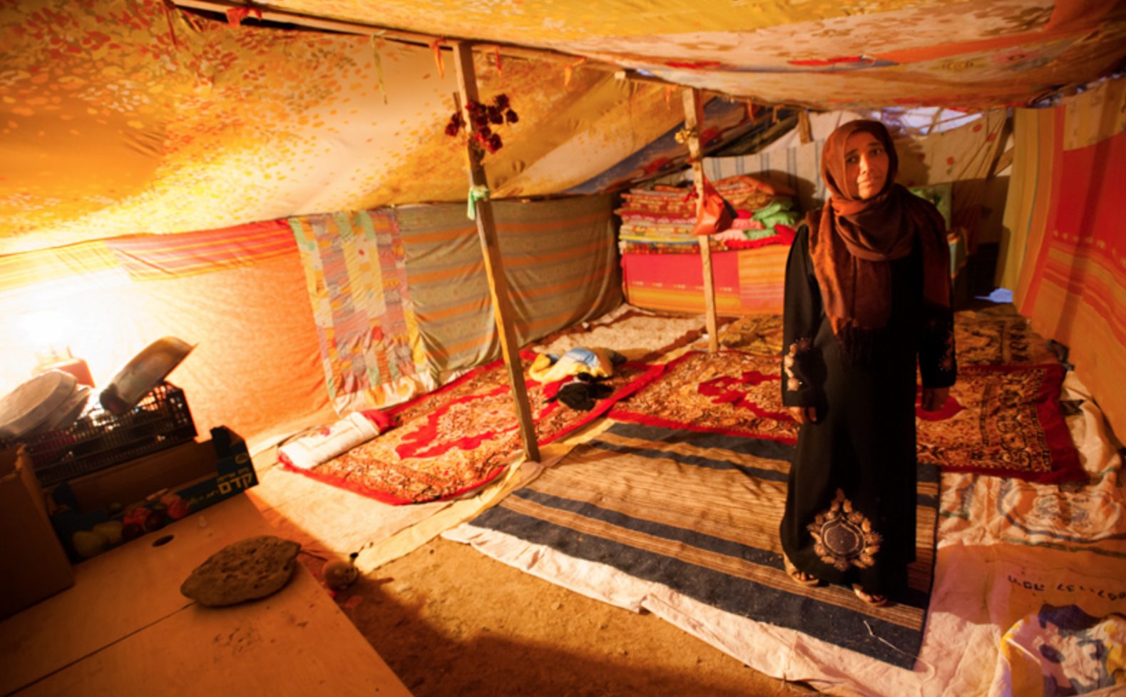 Non-Arabs pour in too. There are Turkmans Chechens Circassians and Romanis. Half a million Assyrian Christians rolled in during the Iraq War. & Looking inside a Bedouin tent | Green Prophet