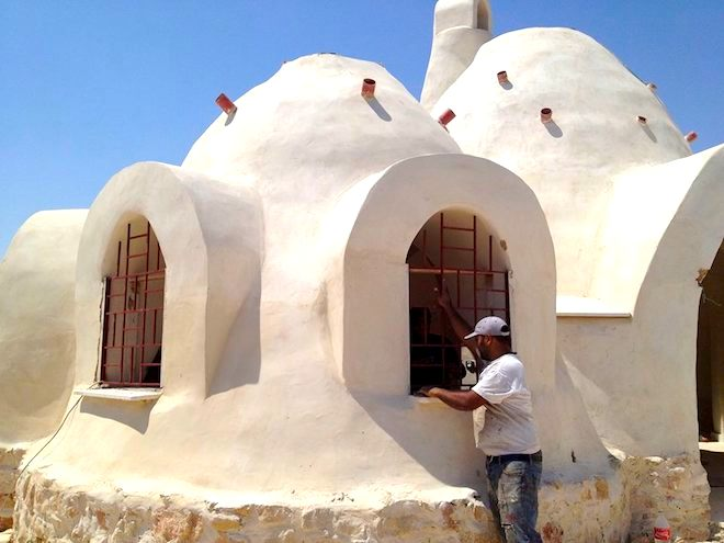 Nader Khalili Style Dome Home Built By Palestinians For