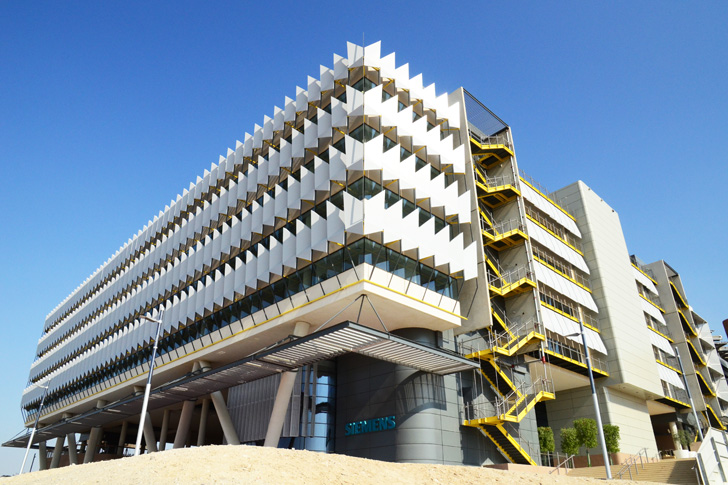 Siemens opens middle east 39 s greenest office building at for Leed building design