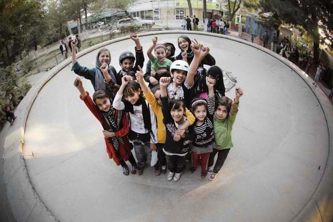 Skateistan skateboarding school for girls, Kabul skateboarding school, skateboarding Pakistan, Cambodia skateboarding school, education for Afghan girls, skating in a war zone