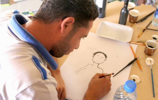 zaatari art workshop