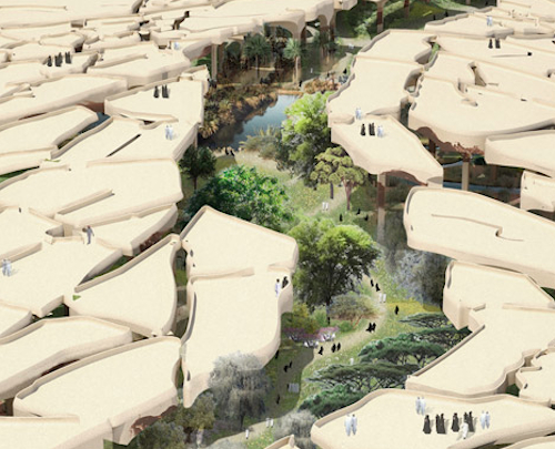 An urban park that embraces its desert environment