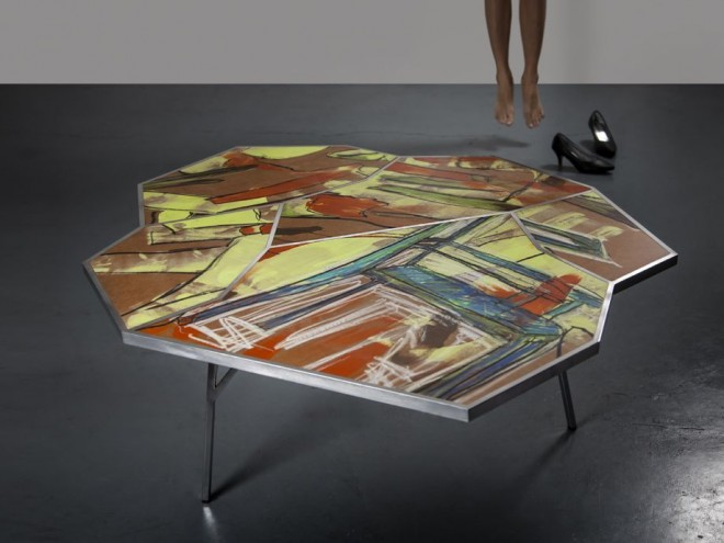 Tel Aviv–based industrial designers Ariel Zuckerman and Eran Shimshovitz  make furniture from street art.