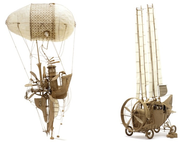 The Principles of Aerodynamics, Daniel Agdag, MARS Gallery, Melbourne, Australia, green design, cardboard art, flying machines, cardboard machines,