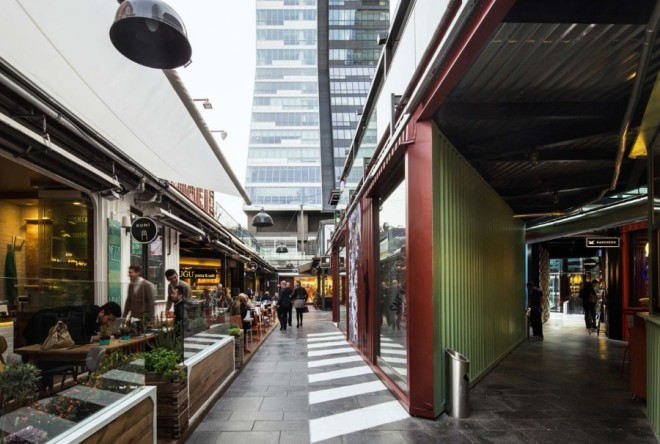 Trump Cadde, GAD, Istanbul, shipping containers, bazaar, souk, Trump Tower Mall shipping containers, recycled shipping container, adaptive reuse
