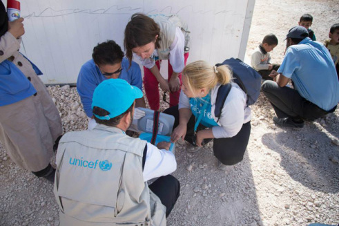 UNICEF health officials on the ground in Syria