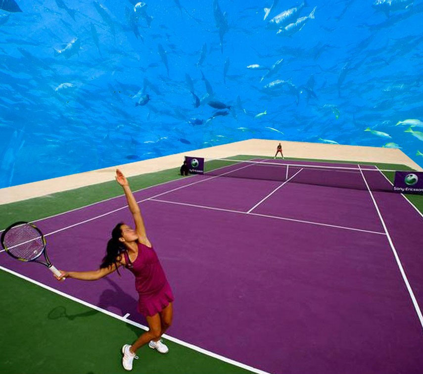 Underwater tennis and floating villas, #OnlyInDubai