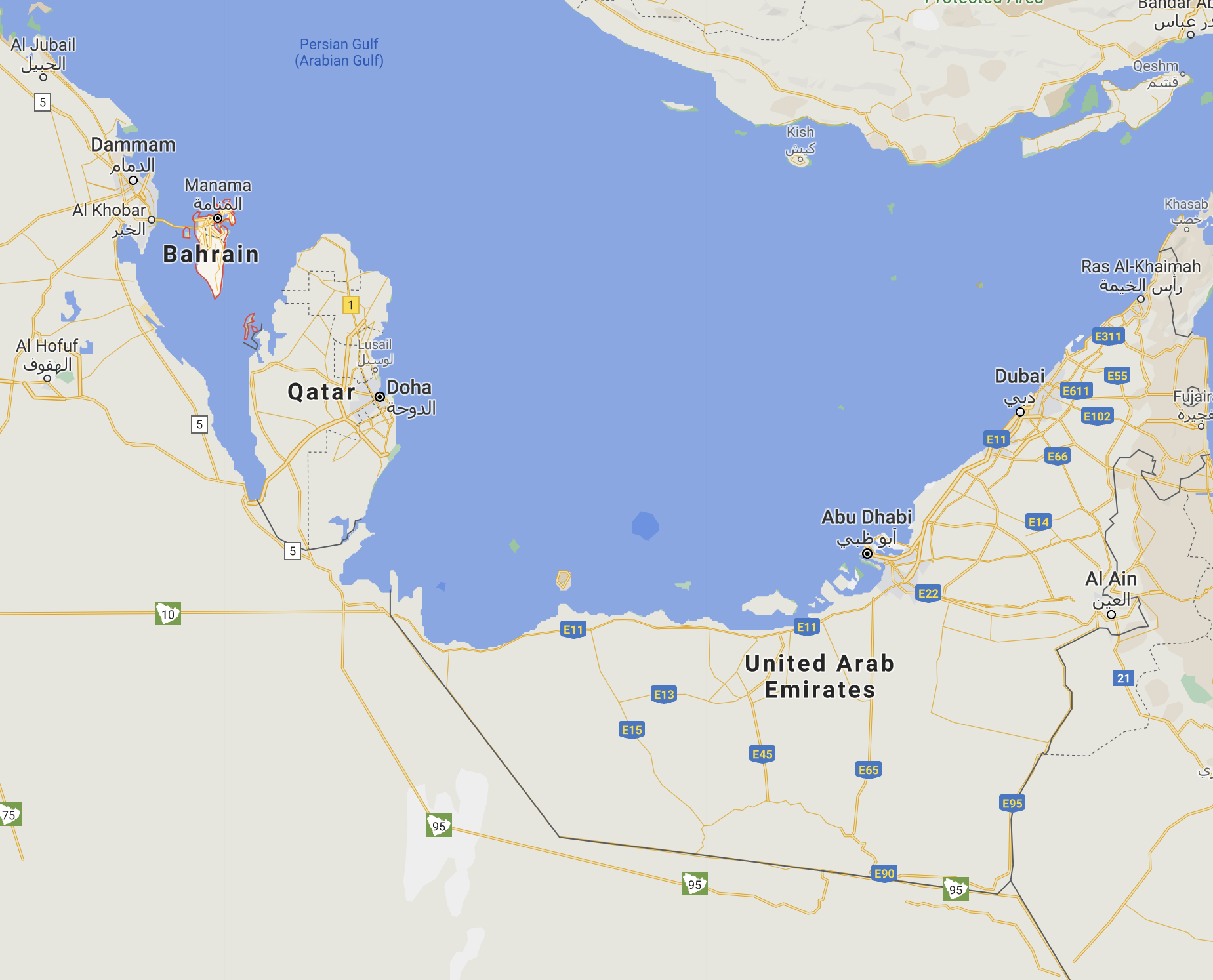 bahrain and the Emirates