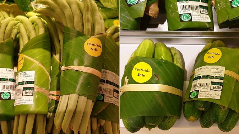 Banana leaves replace plastic packaging in Asian markets