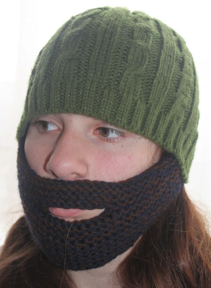 Coolest Hat Ever >> Grow a Middle Eastern Beard in Under 2 Hours! [knit pattern] | Green Prophet