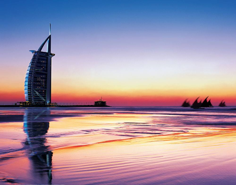 Dubai 39 s burj al arab earns green globe certification for Burj arab dubai