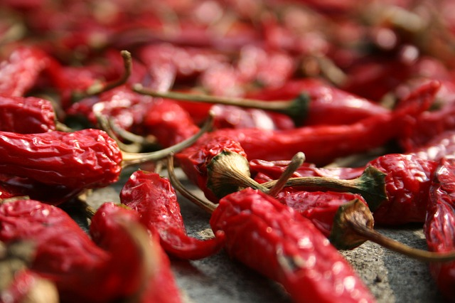 image chillies drying
