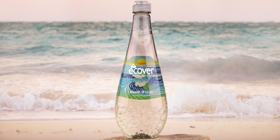 ecover bottle soap at the sea