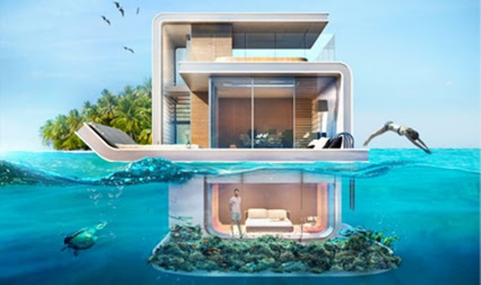 floating seashorse villa
