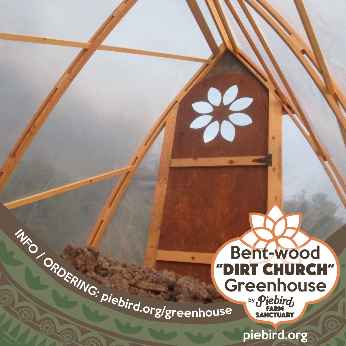 dirt church bent wood greenhouse for seedlings the seed