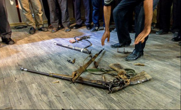 40 Iranian hunters make very public stunt over giving up their guns