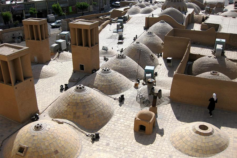 windcatcher or bagadir in Yazd, Iran, a city made from adobe