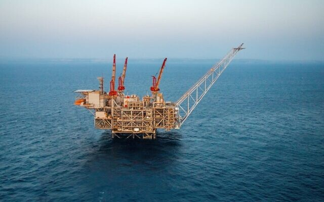 Leviathan natural gas rig off the coast of Haifa, Israel
