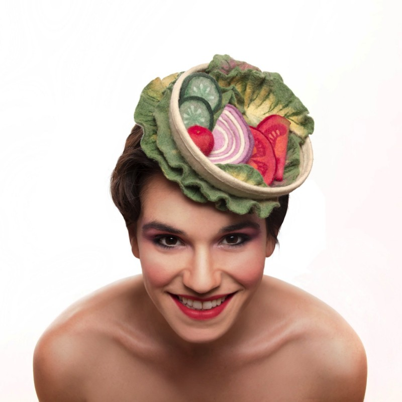 Israeli designs fashion hats good enough to eat