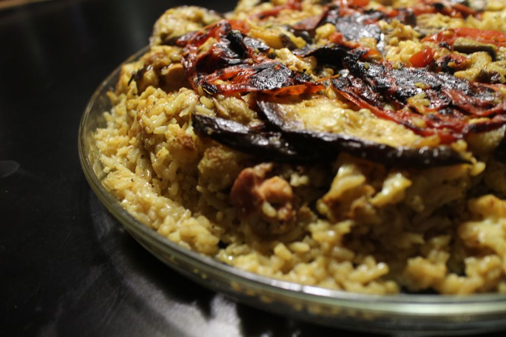 Recipe maklubah arabic upside down chicken and rice meal green recipe maklubah arabic upside down chicken and rice meal forumfinder Image collections