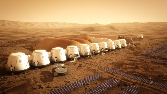 Mars one colony homes