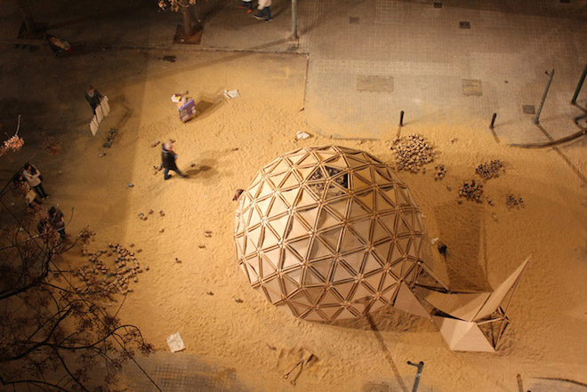 Gorgeous geodesic dome burned down for las fallas festival - The geodesic dome in connecticut call of earth ...