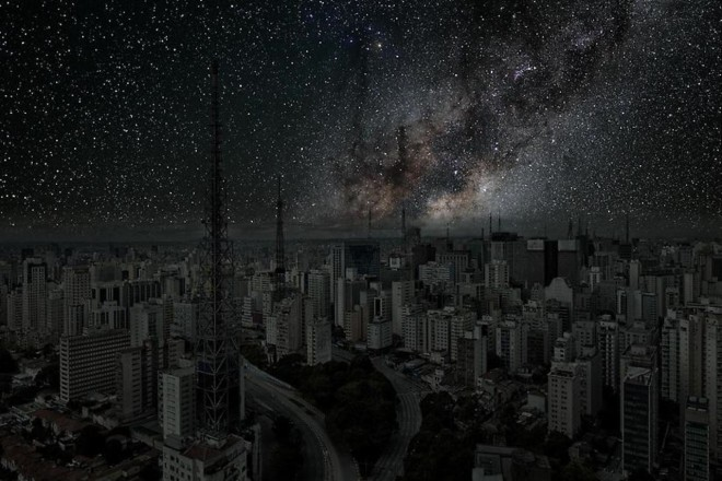 urban light pollution Thierry Cohen