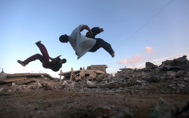 skateboarding in Gaza
