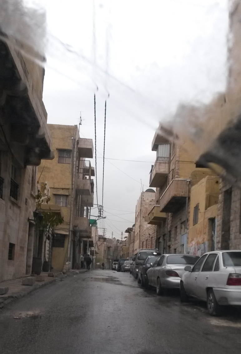 driving in downtown amman