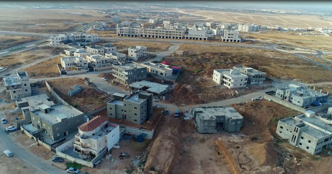 Rahat Bedoin town from above imaged by drone