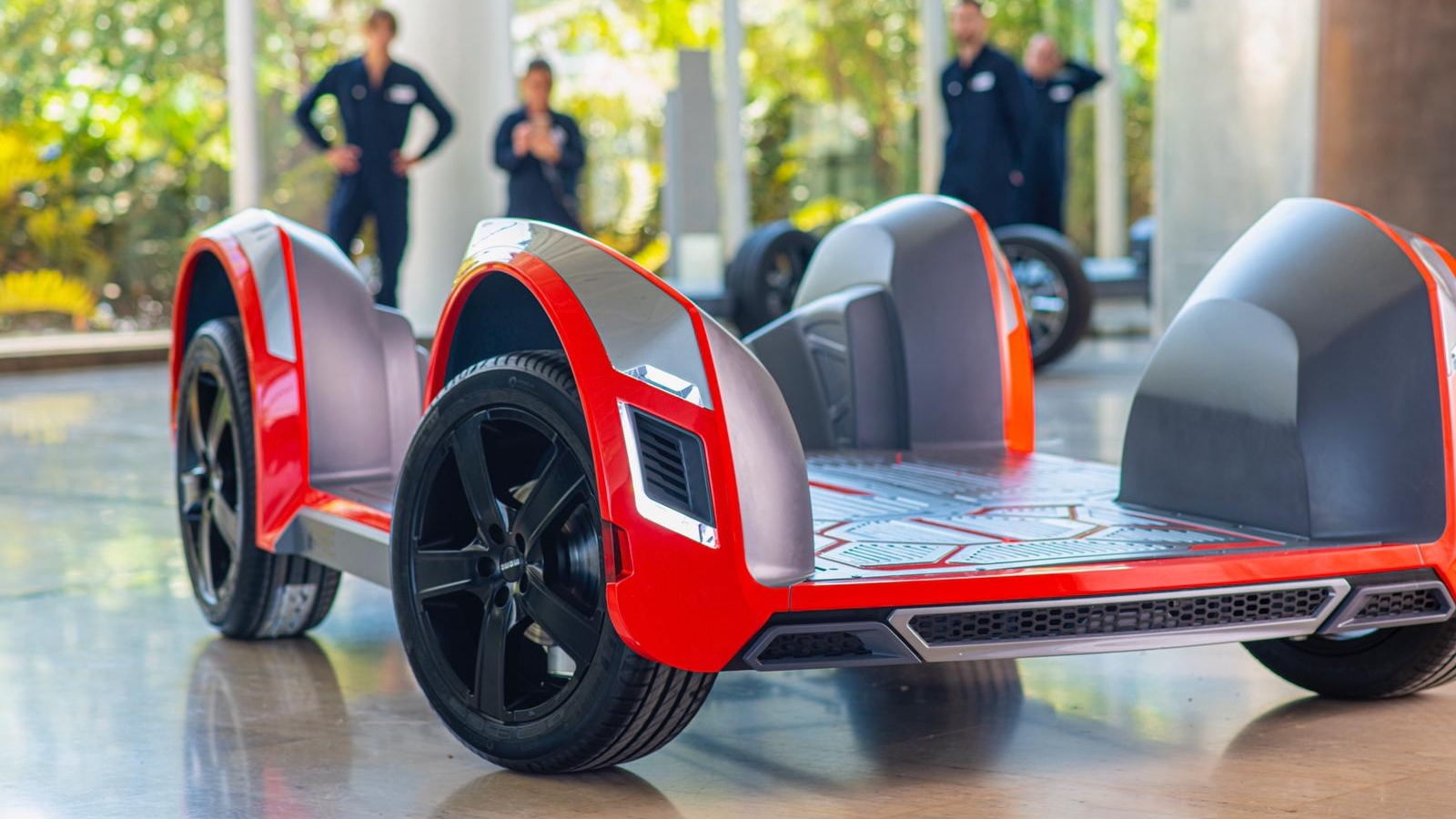 Build and brand your own electric car onto Ree's flat-packed modular chassis