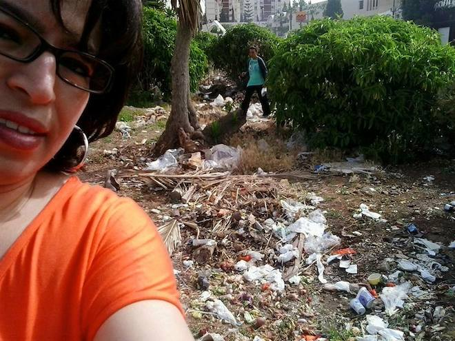 Selfipoubella, selfie, tunisia, trash in tunisia, tunisia trash facebook, photos of trash, social media, hashtag selfipoubella
