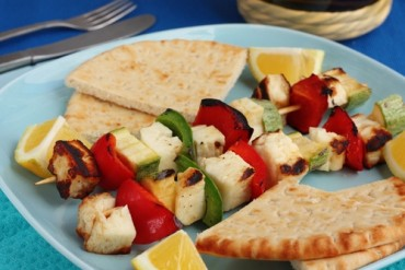 Halloumi cheese kebabs recipe