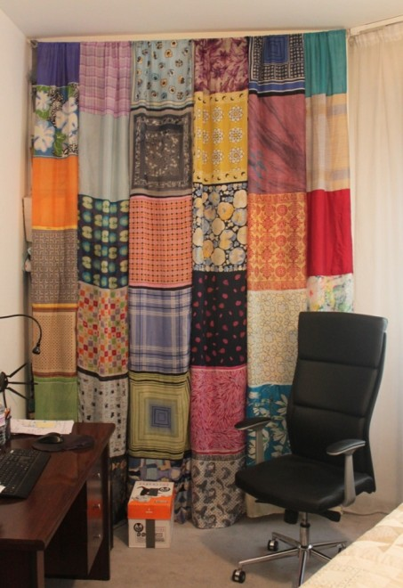 silk scarf curtain