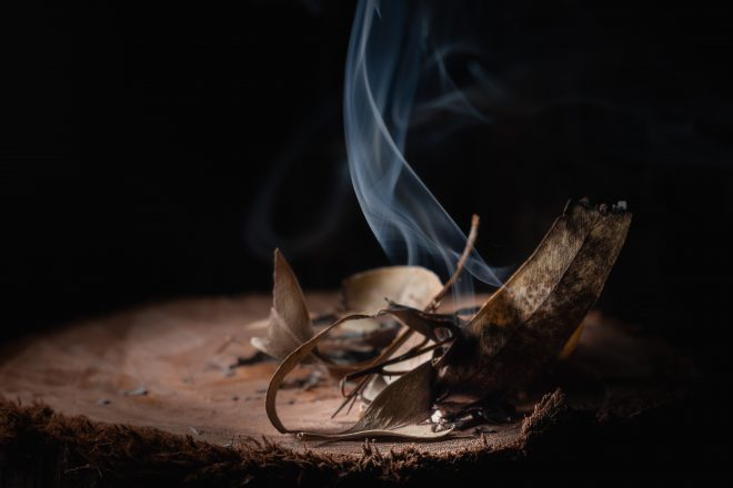smudging out demons