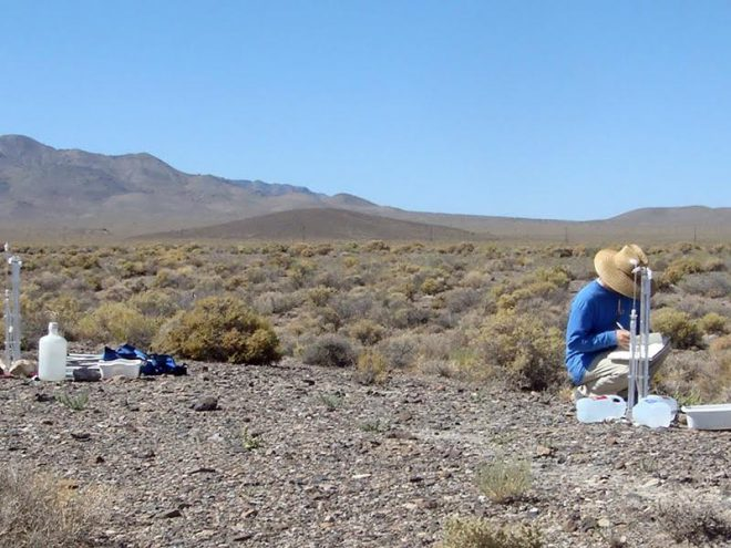 Judith Turk researching fragile desert soil