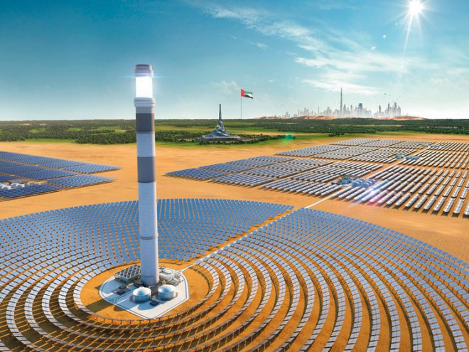 solar energy plant United Arab Emirates