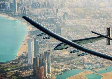 Solar-powered plane's round-the-world journey underway!