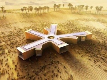 Solar retreat in the Liwa Desert: futuristic functionality or lipstick-on-a-pig?