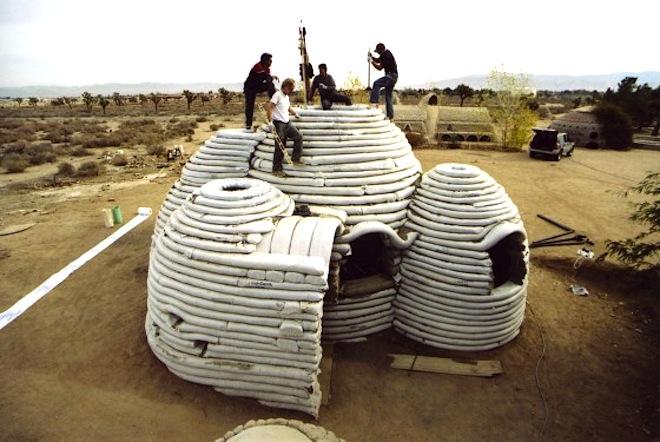 refugee housing, temporary shelter, humanitarian design, refugee shelters, homes for refugees, Nader Khalili, earth construction, green design, iranian earth shelter